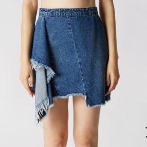 Blank NYC NWT The Blues Denim Asymmetrical Skirt